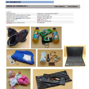 AIRLINE IED TRAINING KIT 1