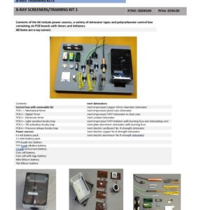 X-RAY SCREENERS/TRAINING KIT 1