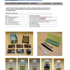X-RAY SCREENERS TRAINING/AUDIT KIT - ADVANCED