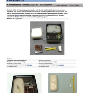 X-RAY SCREENERS TRAINING/AUDIT KIT - INTERMEDIATE