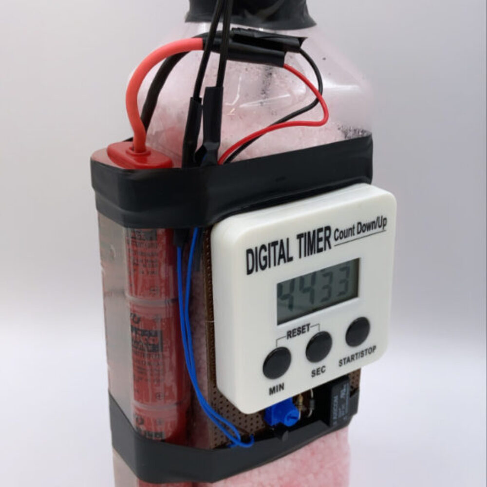 Digital timer ANFO bottle